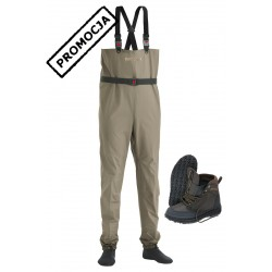Keeper Waders + Wading Boots Rubber Sole + Tungsten Studs
